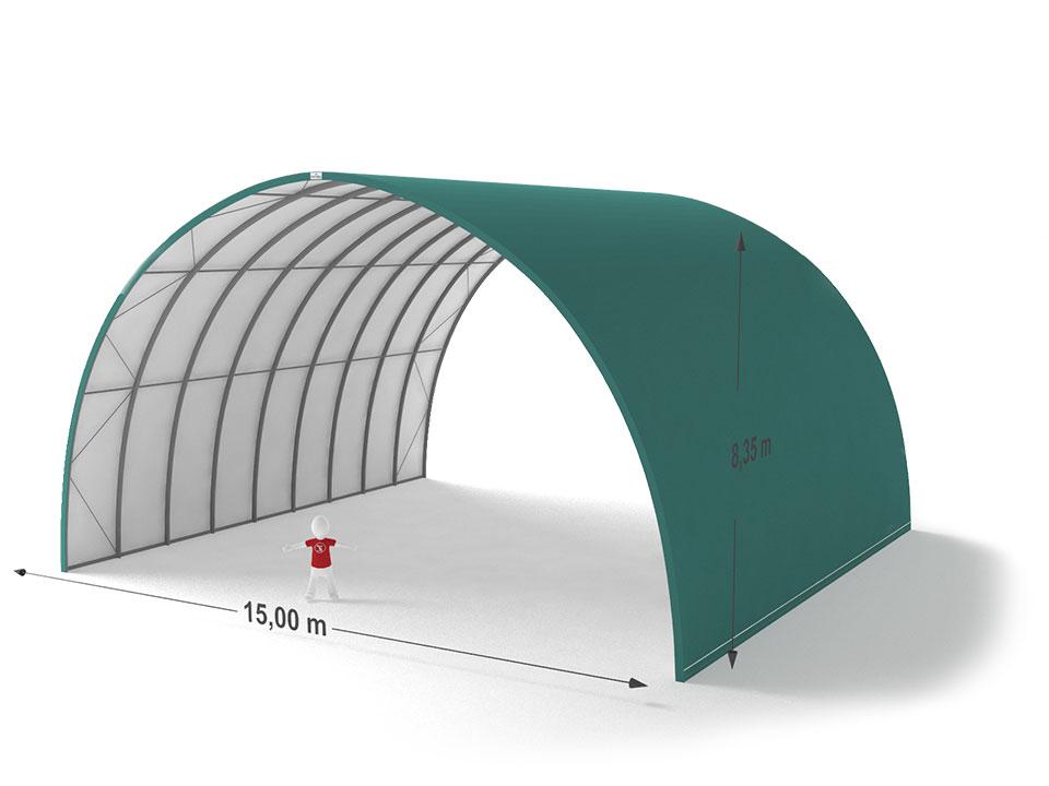 Shelterall tárolósátor 15x8,35