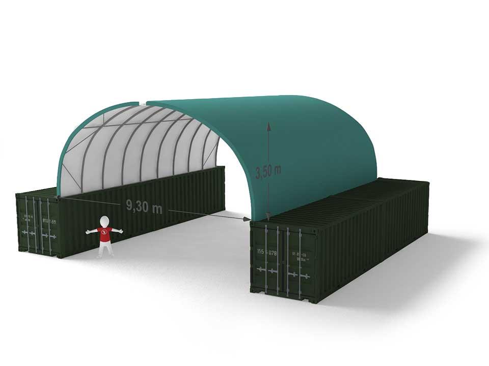 Shelterall tárolósátor tengeri konténerre 9x3,2